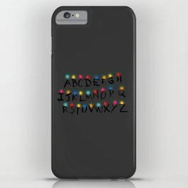 Stranger Things Alphabet Lights iPhone Case