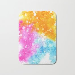 Colorful abstract in watercolor Bath Mat