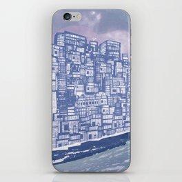 Silver over Sepiantida / Indigo iPhone Skin