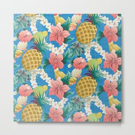 Pineapple Half Drop Metal Print