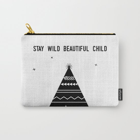 Stay Wild Beautiful Child Carry-All Pouch