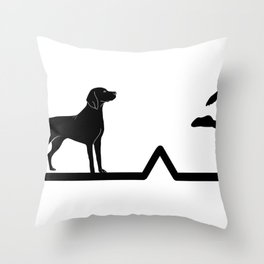 Heartbeat Dog and Soccer | Pulse Throw Pillow