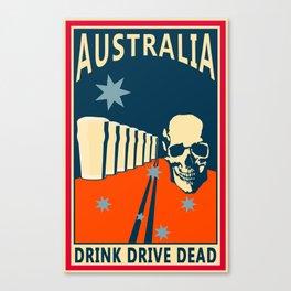 Drink Drive Canvas Print