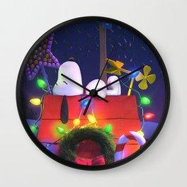 Snoopy Sleep House Wall Clock