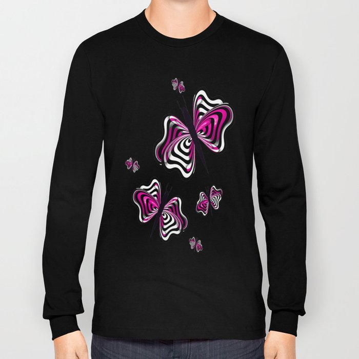 Butterfly Design Long Sleeve T-shirt