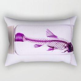 Fluorescent Fishbones Rectangular Pillow