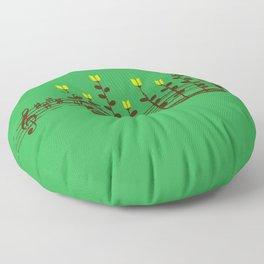 Music notes garden Floor Pillow