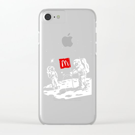 First we take Manhattan, Then we take Moon Clear iPhone Case