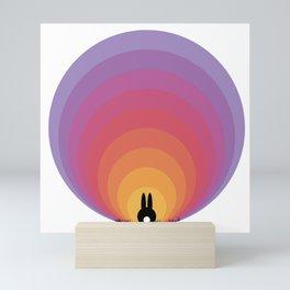 Bunny Rabbit Sunrise Mini Art Print