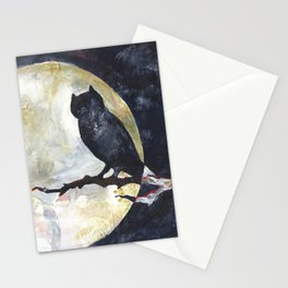 Owl's Perch with the Full Moon Stationery Cards