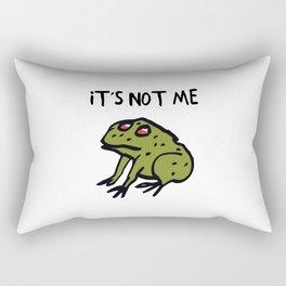 It's Not Me Rectangular Pillow