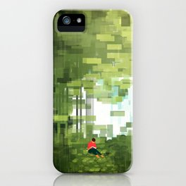 Reading in a Forest iPhone Case