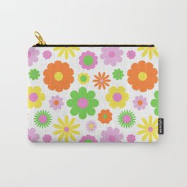 Vintage Daisy Crazy Floral Carry-All Pouch
