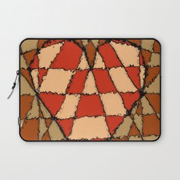 Abstract heart vintage colors Laptop Sleeve