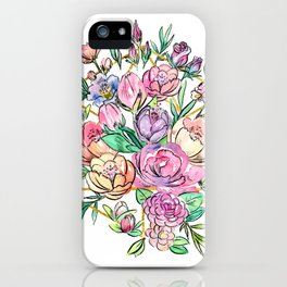 Floral Geometry iPhone Case