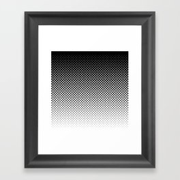 Halftone Gradient Framed Art Print