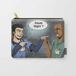 Steak Night of J.D. and Turk (Scrubs) Carry-All Pouch
