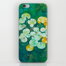 Tranquil lily pond iPhone Skin