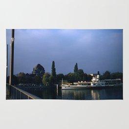 Vintage Color Photo * 1950's * Lucerne * Switzerland * Lake * Boat * Kodachrome Rug