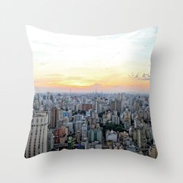 Sao Paulo Aerial Throw Pillow