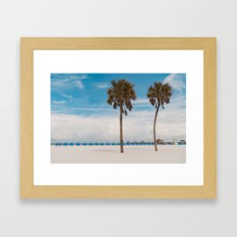 Clearwater Beach in the Morning Framed Art Print