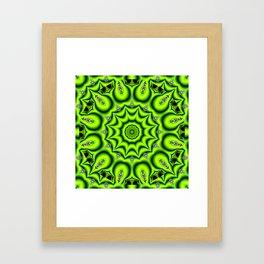 Spring Garden Mandala, Abstract Star Burst Delightful Spirals Framed Art Print