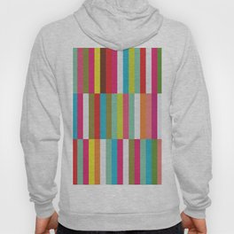 Bright Colorful Stripes Pattern - Pink, Green, Summer Spring Abstract Design by Hoody