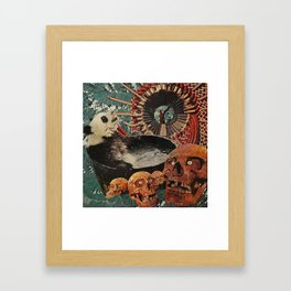 Turbine Panda Framed Art Print