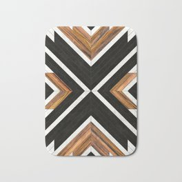 Urban Tribal Pattern 1 - Concrete and Wood Bath Mat