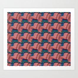 American Flag Pattern Art Print