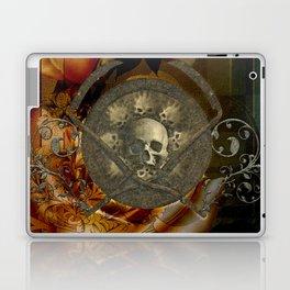 Awesome, creepy skulls, vintage design Laptop & iPad Skin