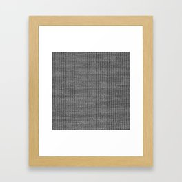 Antiallergenic Hand Knitted Grey Wool Pattern - Mix & Match with Simplicty of life Framed Art Print
