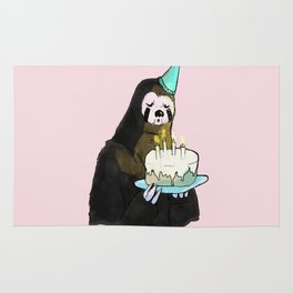 sloth birthday Rug