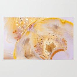 Modern Blush and gold Agate Rug