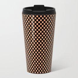 Black and Pumpkin Polka Dots Travel Mug