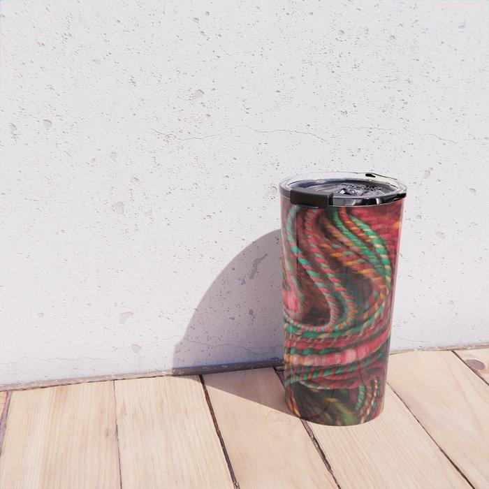 Pecos Valley - Handspun Coiled Yarn Travel Mug