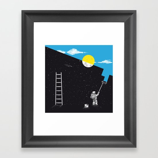 Night Painter Framed Art Print
