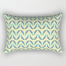 Zig Zag Macaw Rectangular Pillow
