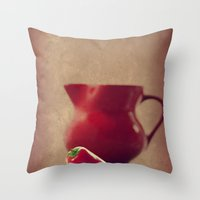 moulin rouge Throw Pillows featuring Rouge by Tanja Riedel