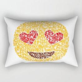 Emoji Calligraphy Art :Smiling face with heart-eyes Rectangular Pillow
