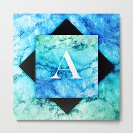 A - Monogram Vivids Metal Print
