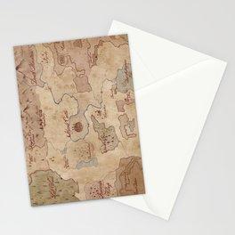 Map of Hyrule- Legend of Zelda Stationery Cards