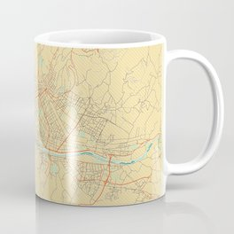 Florence Map Retro Coffee Mug