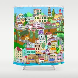 Symi, Greece Shower Curtain