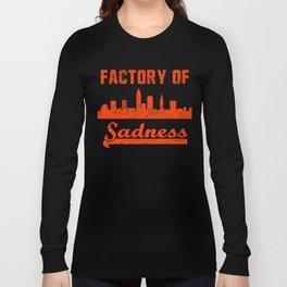 Cleveland Factory of Sadness City Skyline  Long Sleeve T-shirt
