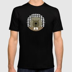 Me and my beaver teeth Mens Fitted Tee Black X-LARGE