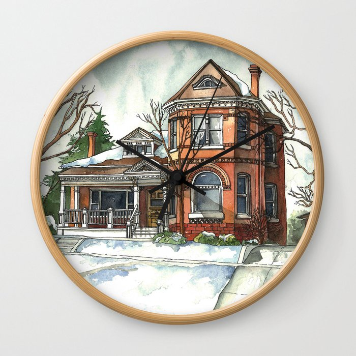 Victorian House in The Avenues Wall Clock