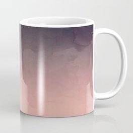 Modern abstract dark navy blue peach watercolor ombre gradient Coffee Mug
