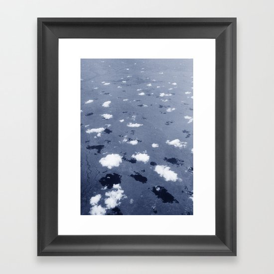 Clouds over the Australian outback. Framed Art Print