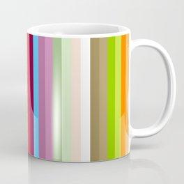 Multicolored Retro Stripes Mngwa Coffee Mug